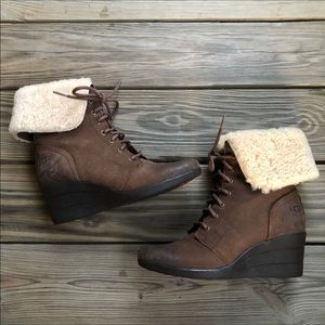 UGG Zea Waterproof Wedge Boot